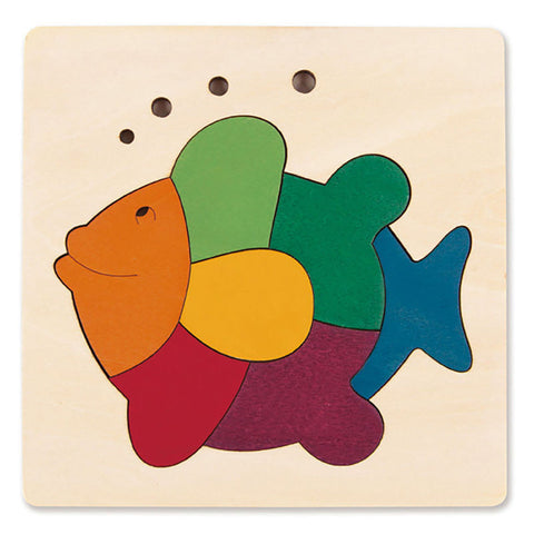 George Luck | Wooden Puzzle - Rainbow Fish