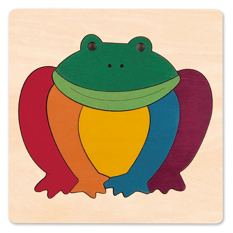 George Luck Wooden Puzzle - Rainbow Frog