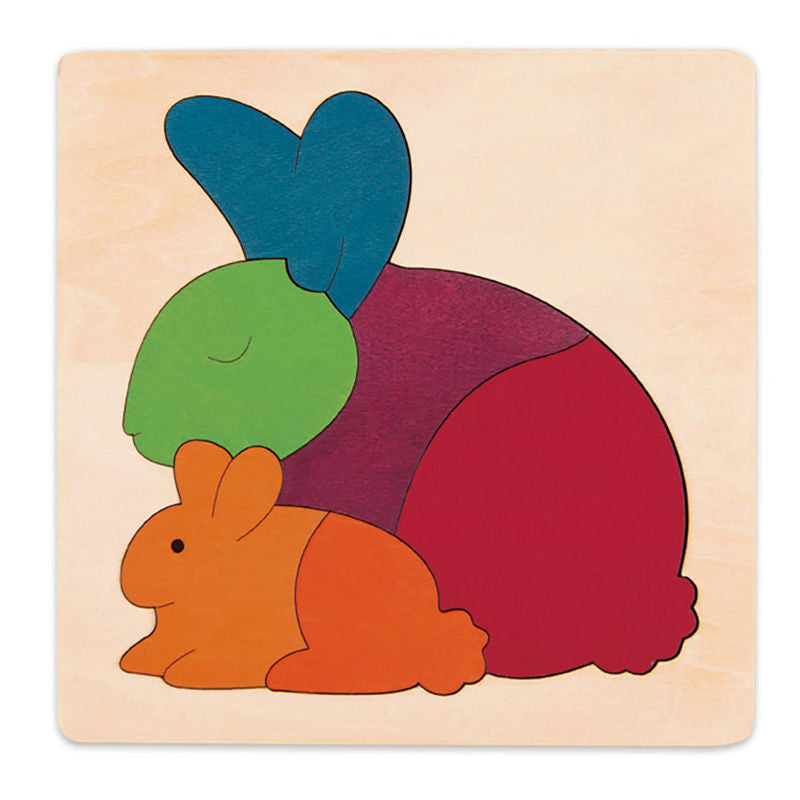 George Luck Wooden Puzzle - Rainbow Rabbit