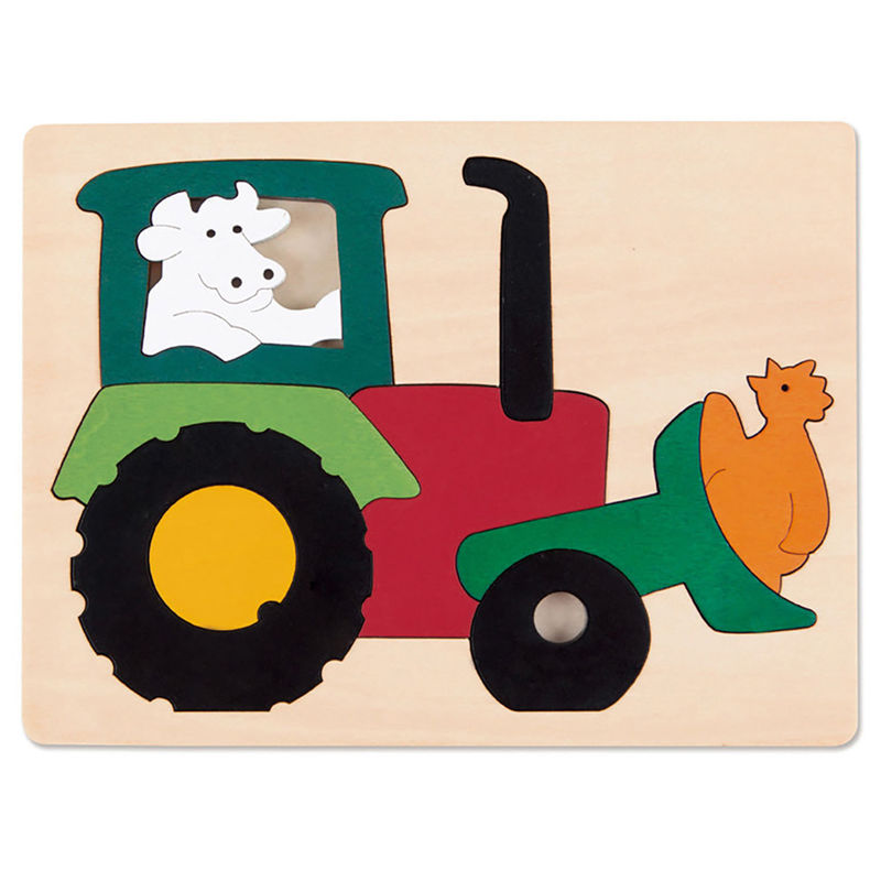 George Luck Wooden Puzzle - Tractor