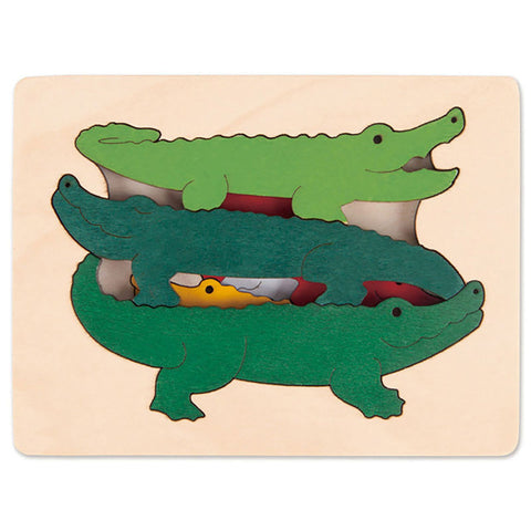 George Luck | Wooden Puzzle - Crocodiles