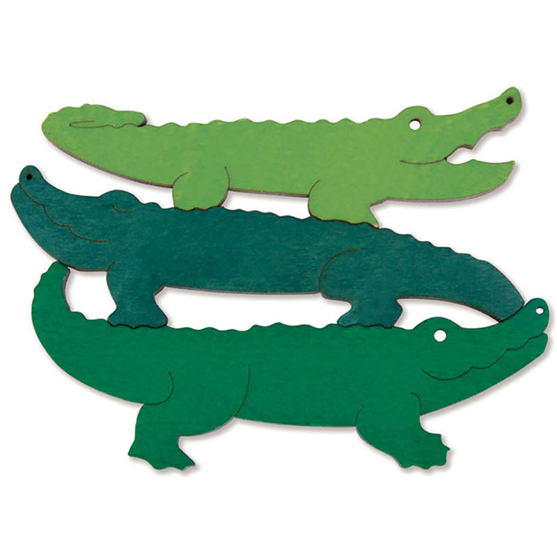George Luck Wooden Layer Puzzle - Crocodiles