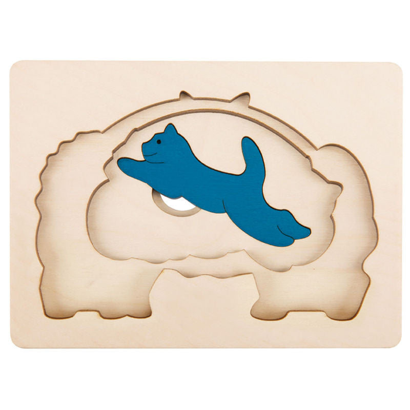 George Luck Wooden Layer Puzzle - Cats