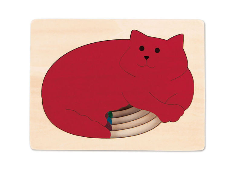 George Luck Wooden Layer Puzzle -  Five Cats