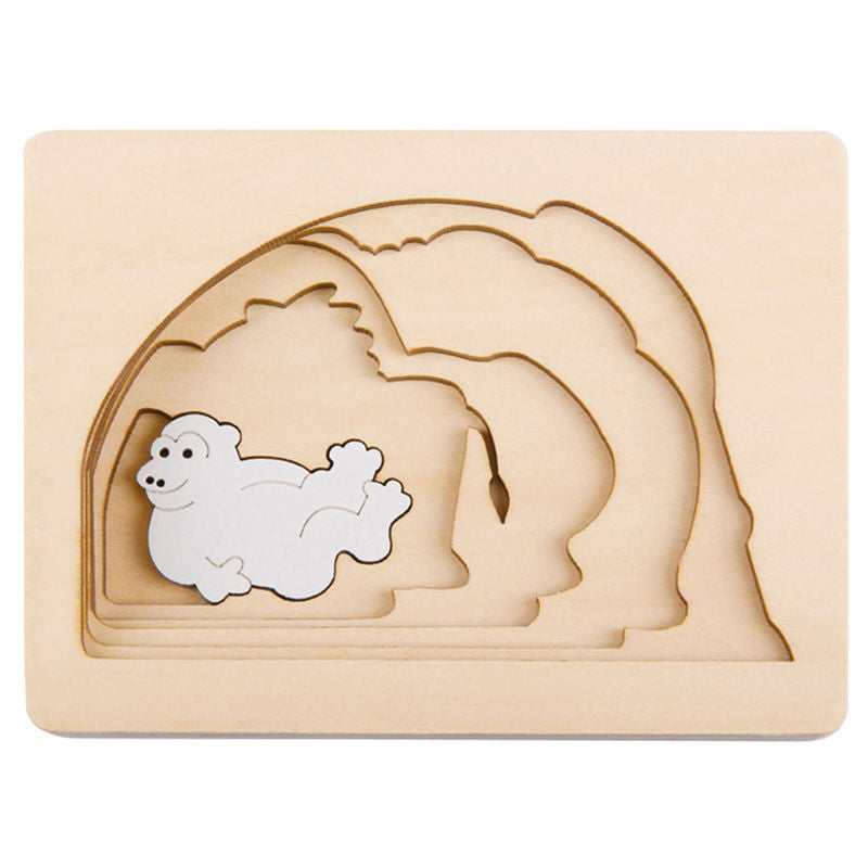 George Luck Wooden Layer Puzzle - Grasslands