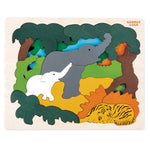 George Luck Wooden Layer Puzzle - Asian Animals