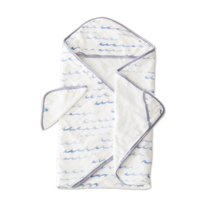 Hooded Towel & Wash Cloth - High Tide