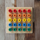 Build Up Wooden Peg Board