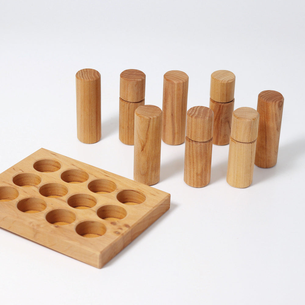 Stacking Game & Rollers - Natural