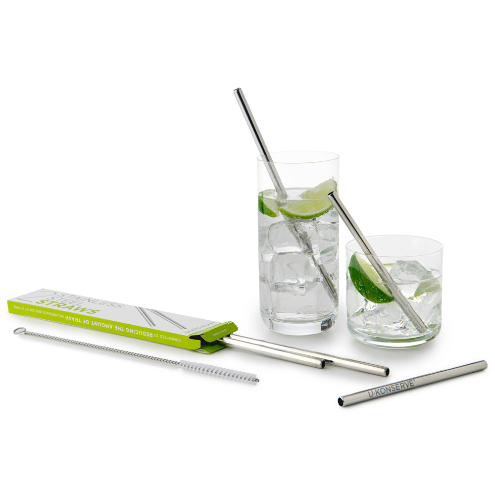 Stainless Steel Standard Straw + Brush Combo