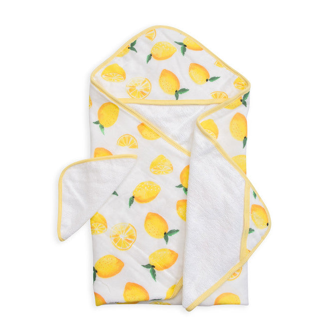 Hooded Towel & Wash Cloth - Lemon