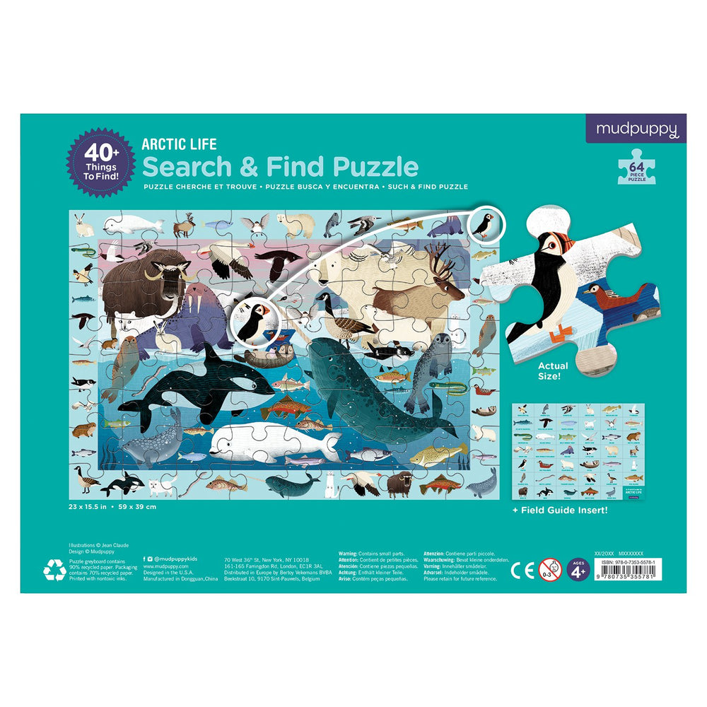 Search & Find Puzzle - Arctic Life
