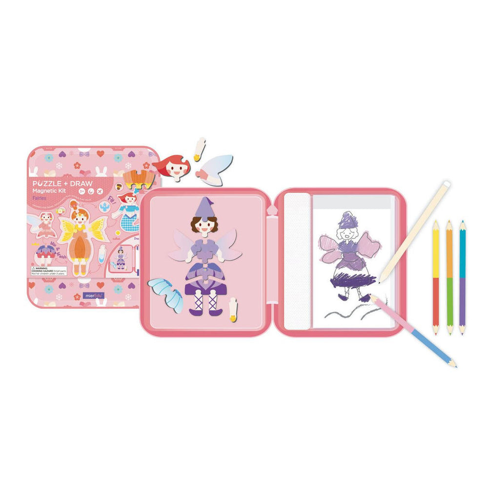 Puzzle & Draw Magnetic Kit - Fairy Tales