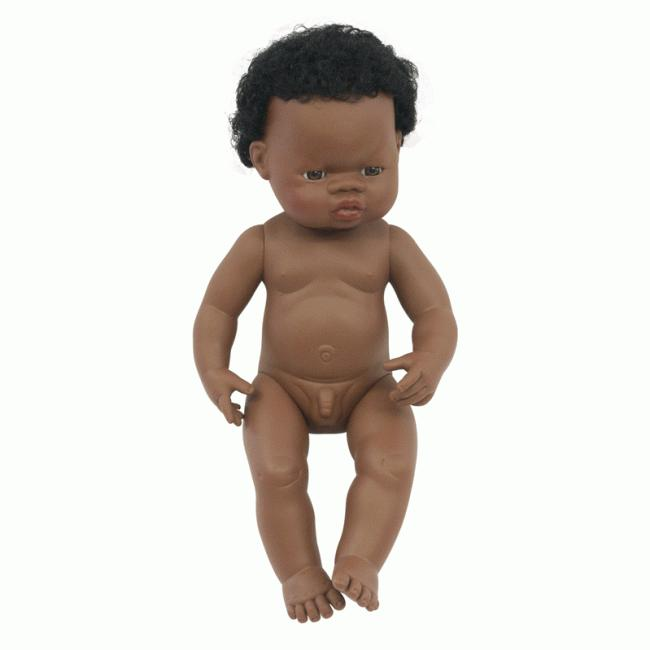 Anatomically Correct Baby Doll | 38cm - African Boy
