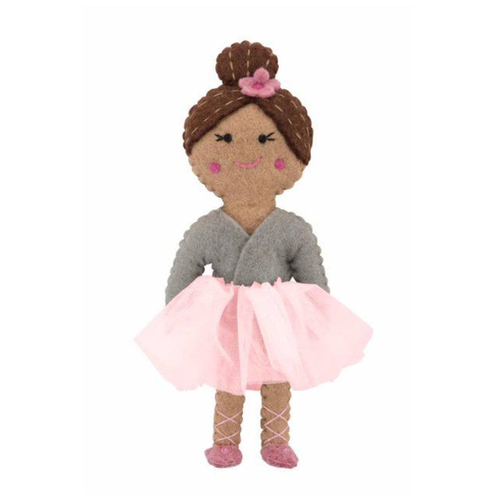 Felt Ballerina Doll - Grey