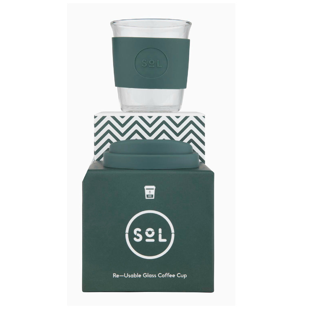 Glass Cup | 8oz - Deep Sea Green