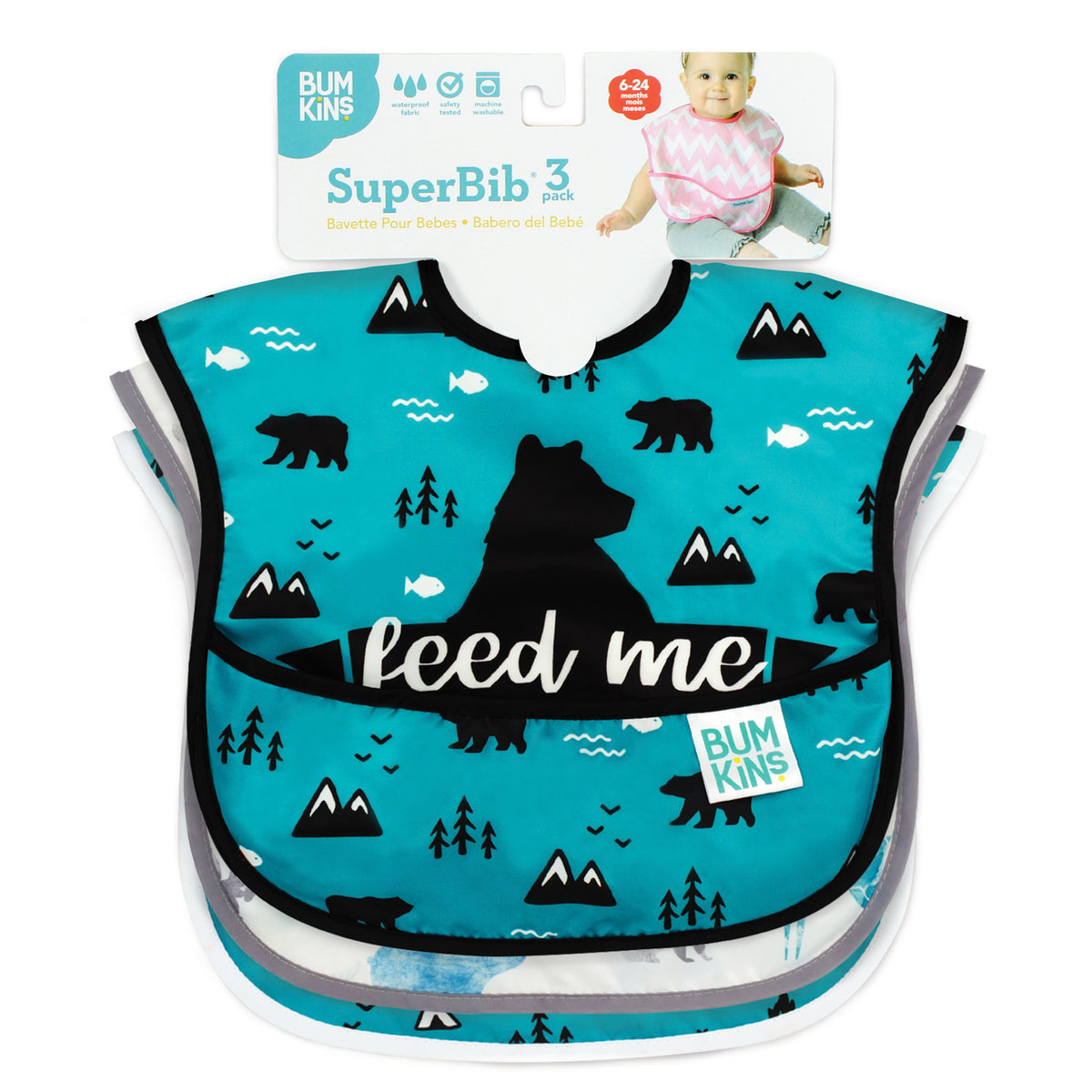 Super Bib | Outdoor & Nature - 3pk
