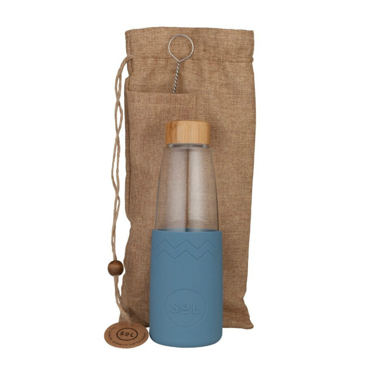 Glass Bottle | 850ml - Blue Stone
