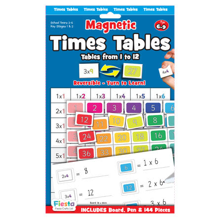 Magnectic Numbers | Times Tables - 1-12