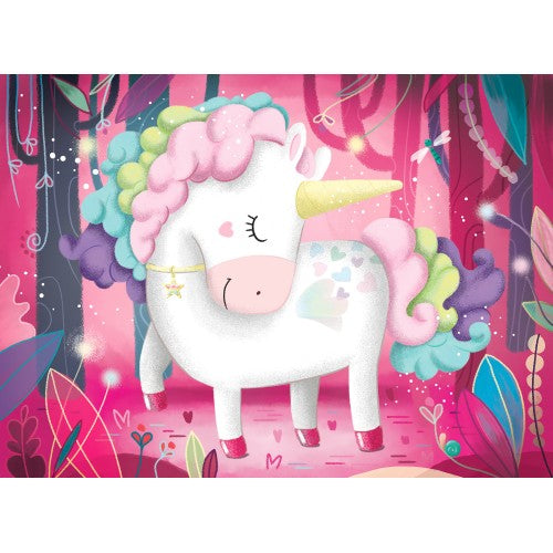 Book & Giant Puzzle 30 pcs - The Magic Unicorn
