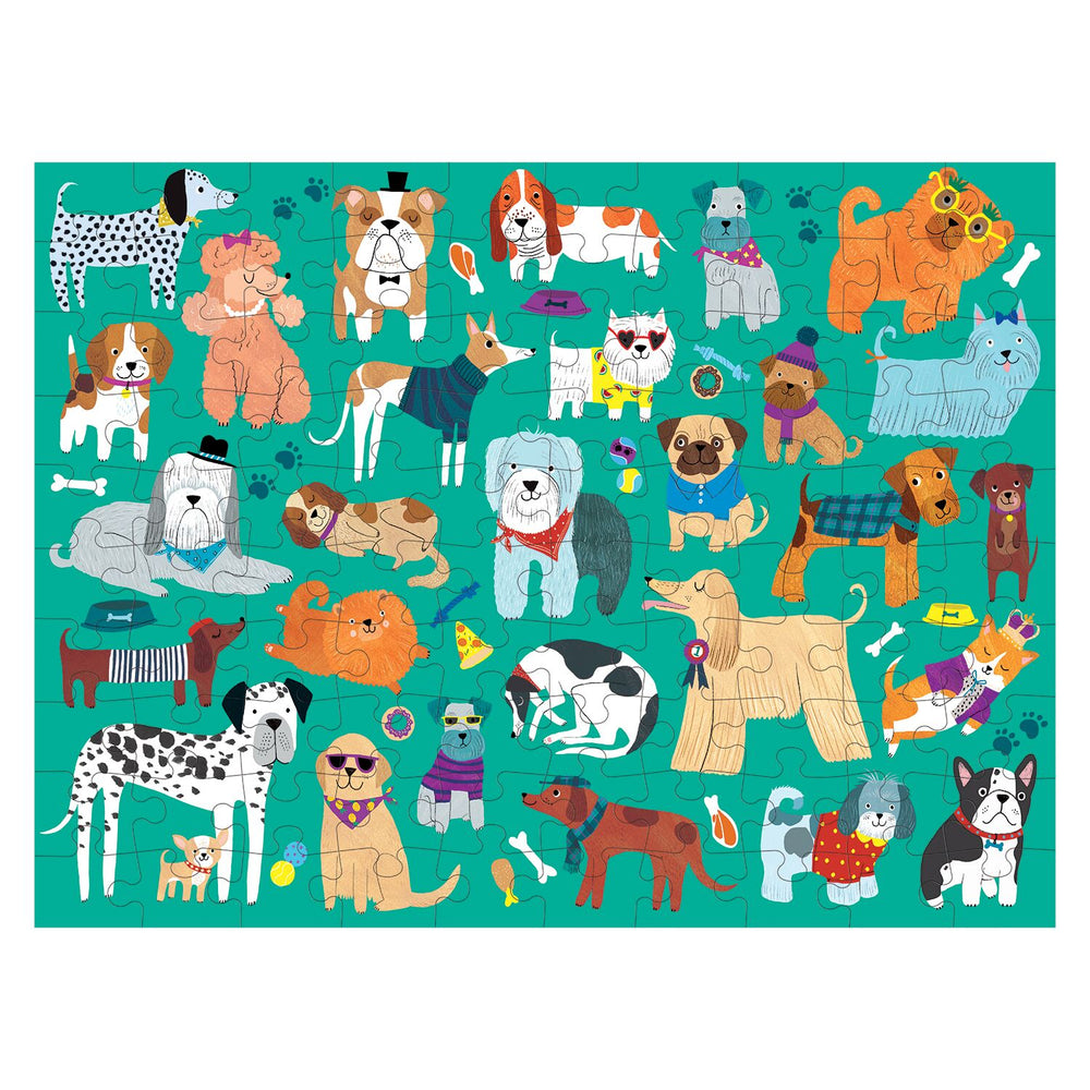 100 Piece Puzzle | Double Sided - Cats & Dogs