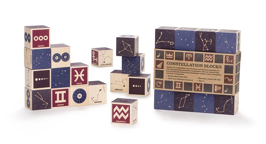 Wooden Blocks | Constellations - 16 pc