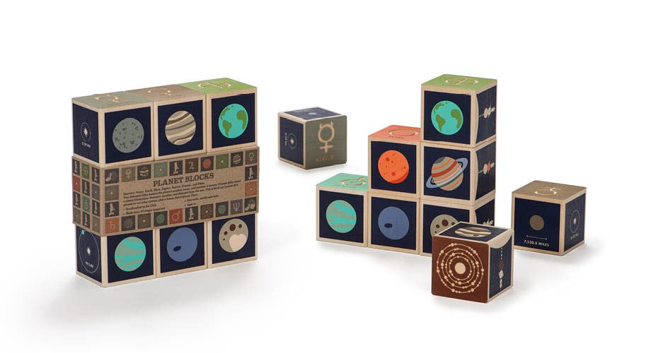 Wooden Blocks | Planet - 9 pc