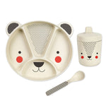 Bamboo Dinnerware Set | Bear - 3pc