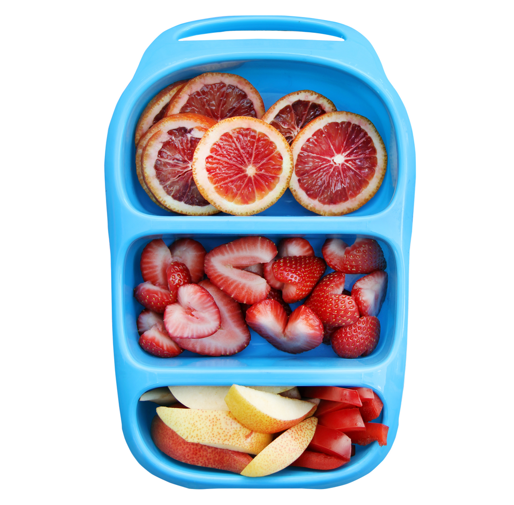 Bynto Lunchbox - Neon Blue *NEW - NOW INCLUDES DIPPERS*