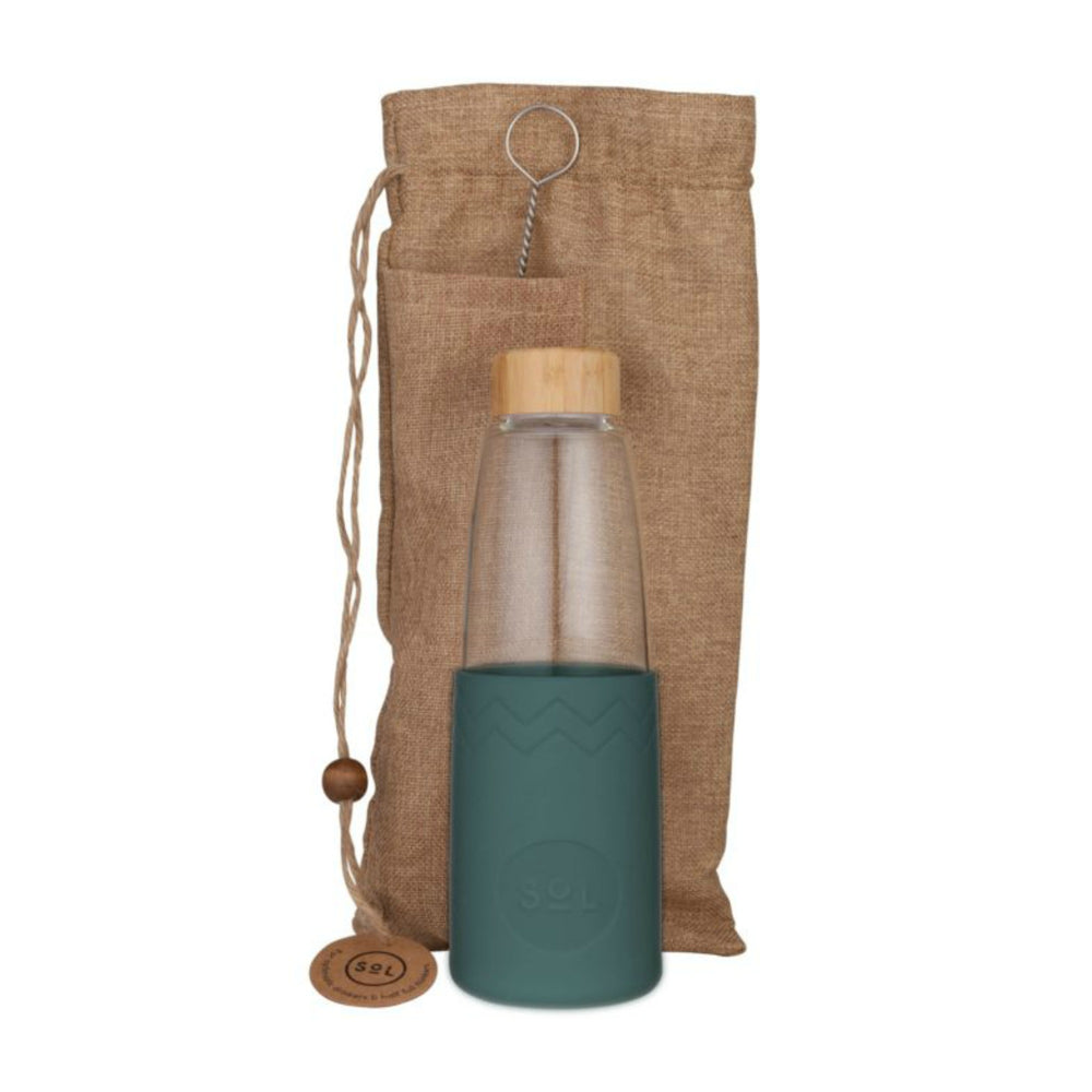 Glass Bottle | 850ml - Deep Sea Green