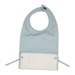 Coated Feeding Bib | Foggy Blue