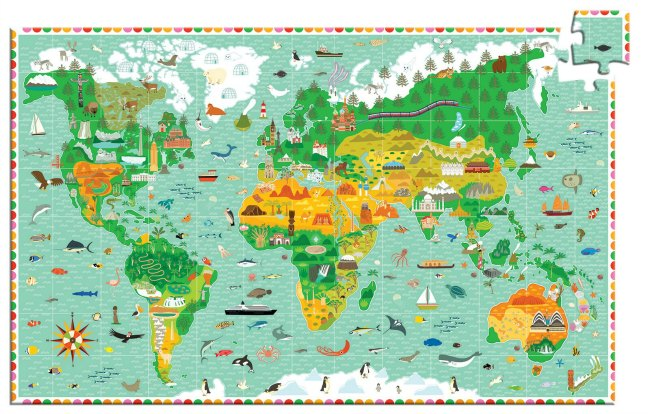 Puzzle Observation | Around The World Puzzle - 200pc