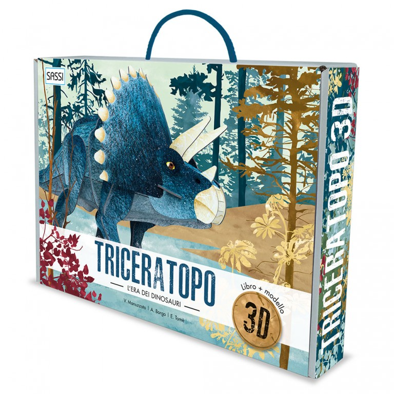 3D Assemble & Book | The Age Of The Dinosaurs - Triceratops