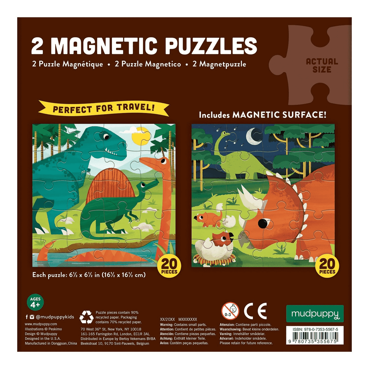 Magnetic Puzzle | 2-in-1 - Mighty Dinosaurs
