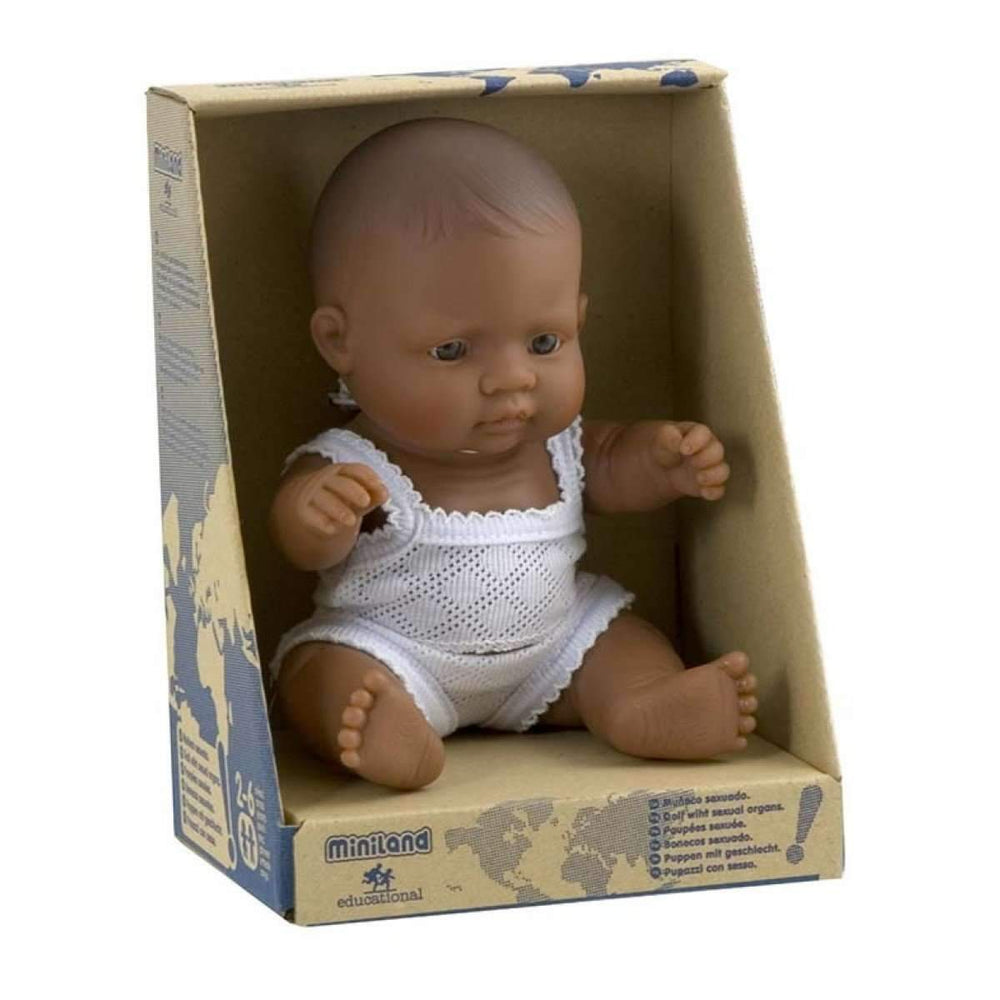 Anatomically Correct Baby Doll | 21cm - Hispanic Boy