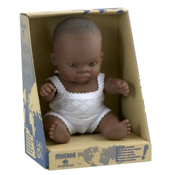 Anatomically Correct Baby Doll | 21cm - African Girl
