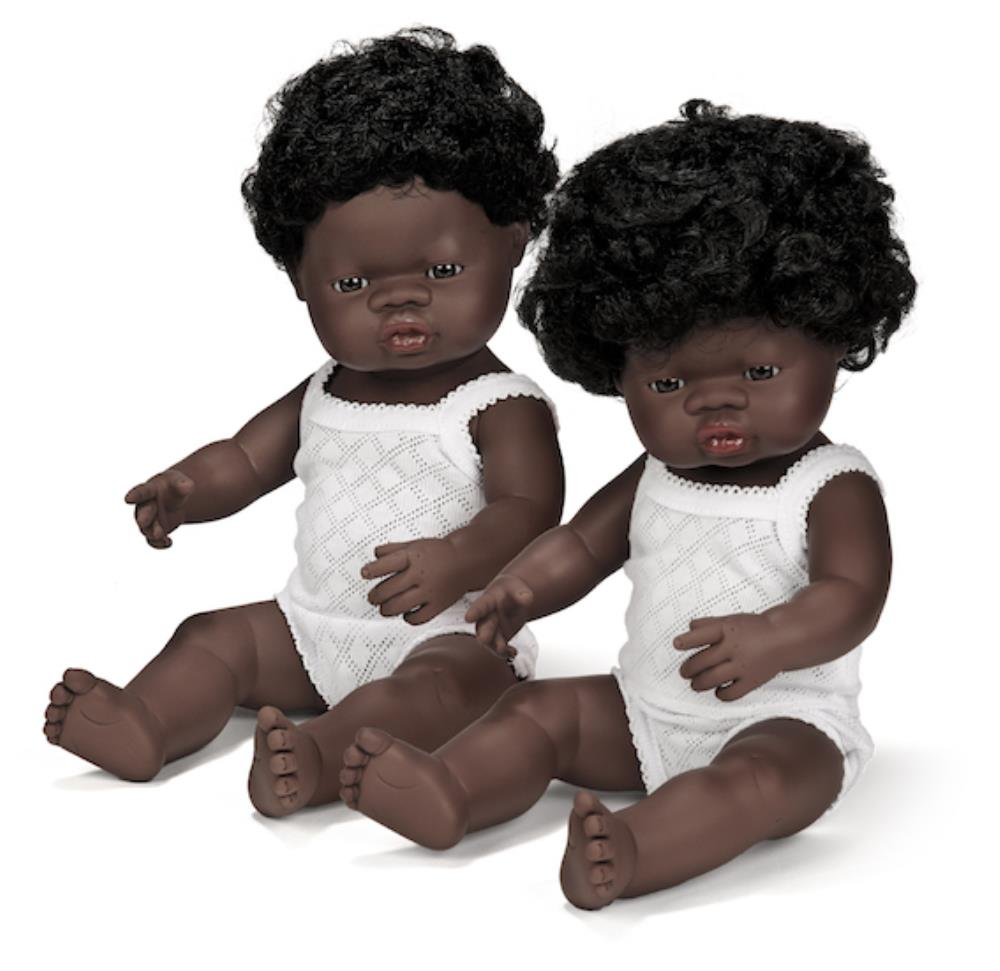 Anatomically Correct Baby Doll | 38cm - African Girl