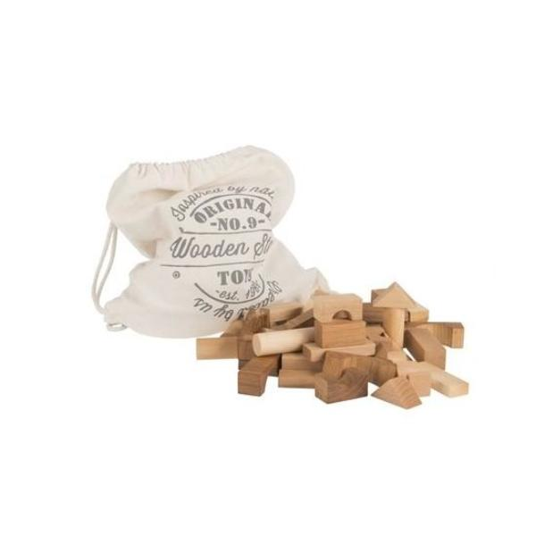 Blocks in Sack | Natural - 100 piece