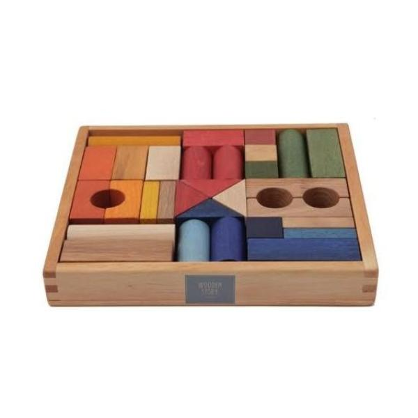 Blocks in Tray | Rainbow - 30 piece