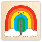 Four Layer Wooden Puzzle - Rainbow Friends