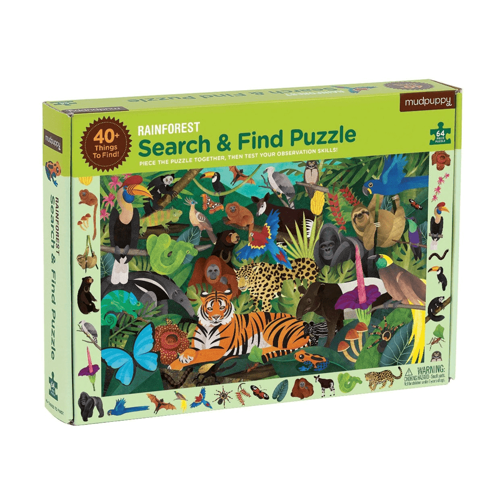 Search & Find Puzzle - Rainforest
