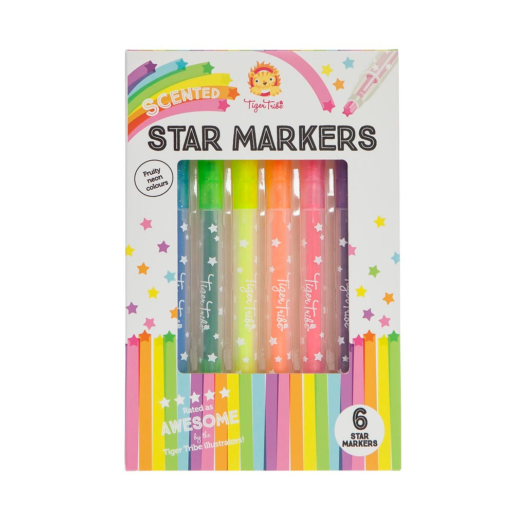 Scented Star Markers - 6pk