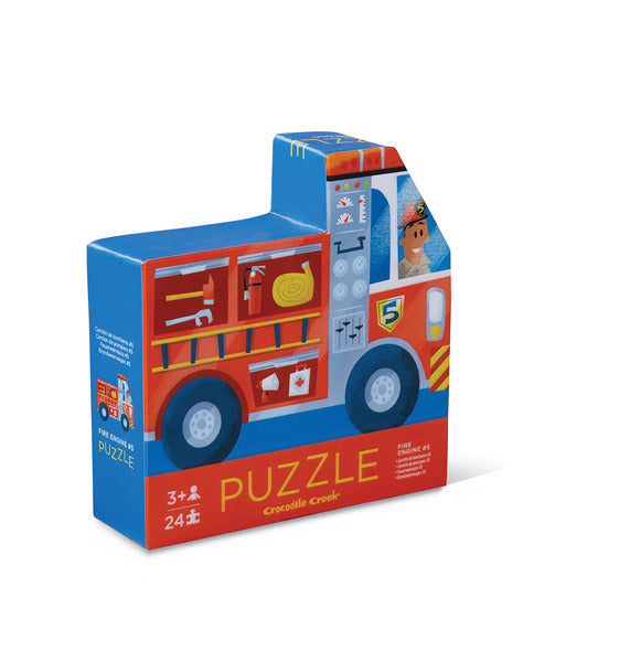 Two Sided Puzzle 24pc - Fire Engine #5