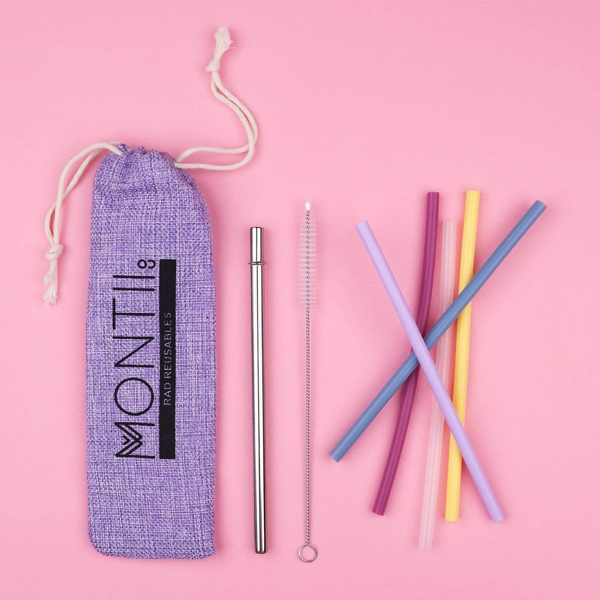 Mini Silicone Straw Set - Mellow 6pk