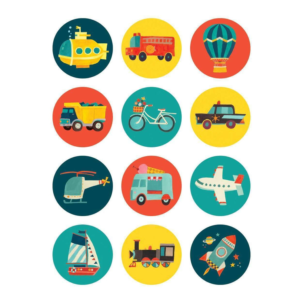 Mini Memory Match Game - Transportation