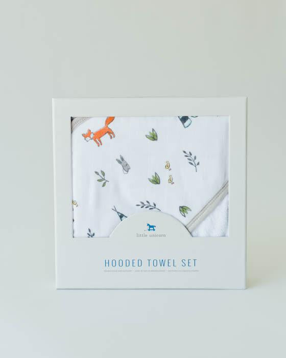 Hooded Towel & Wash Cloth - Forest Friends