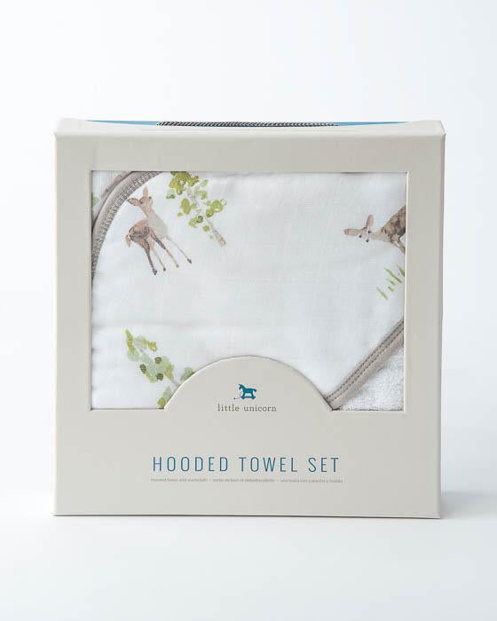 Hooded Towel & Wash Cloth - Oh Deer