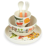 Bamboo Dinnerware Set | World - 5 piece