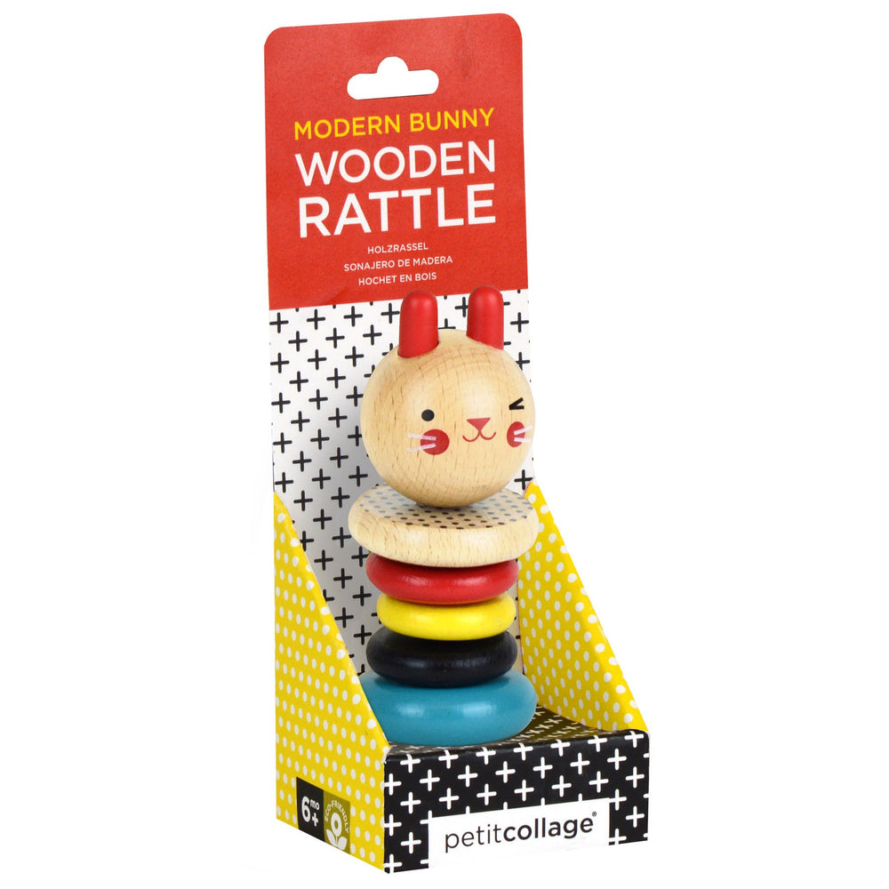 Wooden Rattle - Bunny