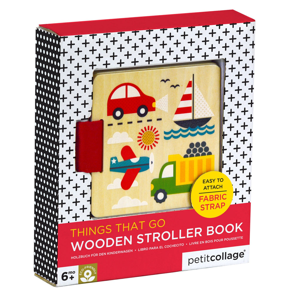 Wooden Stroller Book - Things That Go